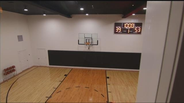 Luxury Living Indoor Basketball Court Secret Doors And Views That Are More Like A Postcard