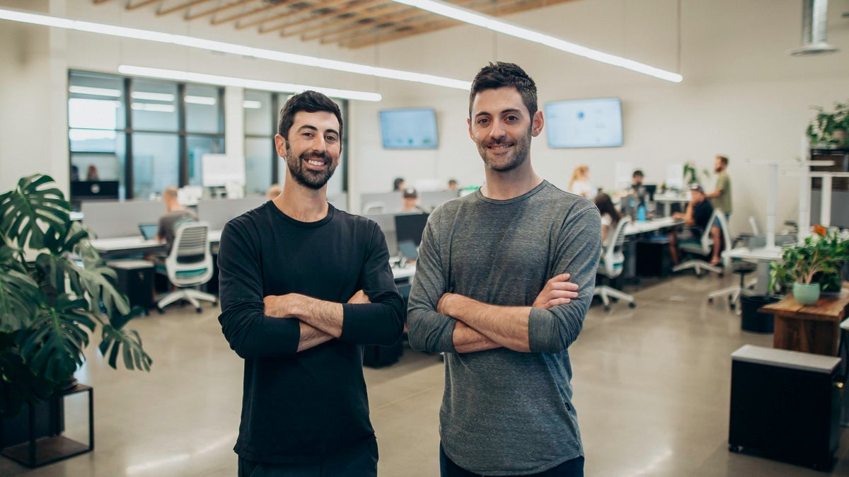 Brothers Ross Lipson (left) and Zach Lipson co-founded the cannabis online marketplace Dutchie.