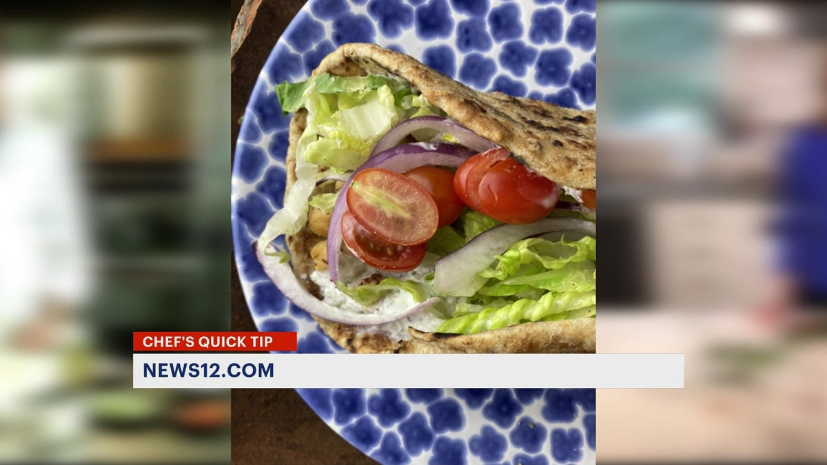 Chef's Quick Tip: Vegetarian roasted chickpea gyros