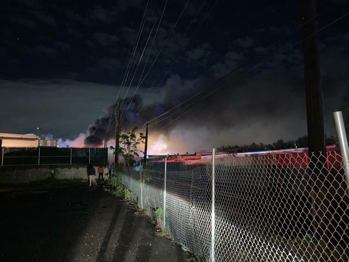 Photo of the fire in Westbury (Thema Ponton/News 12)