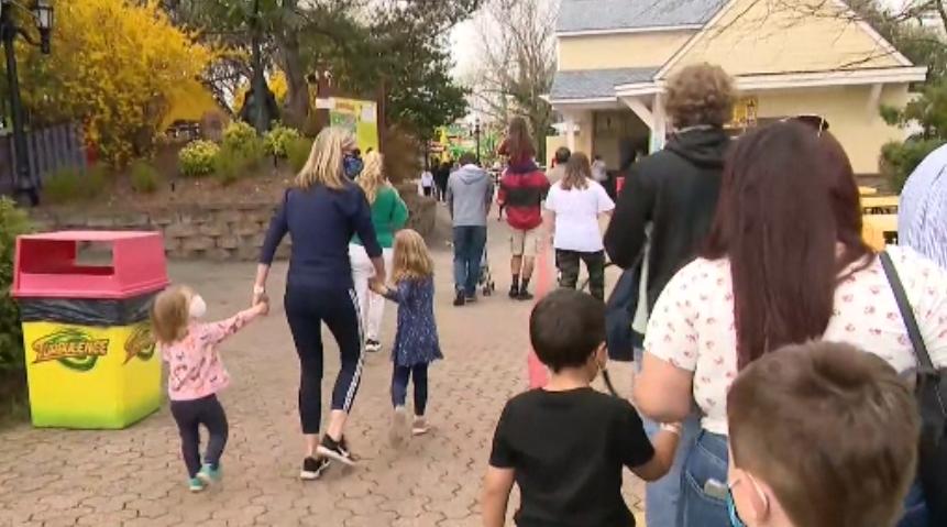 Families return to Adventureland in Farmingdale. (4/10/2021)
