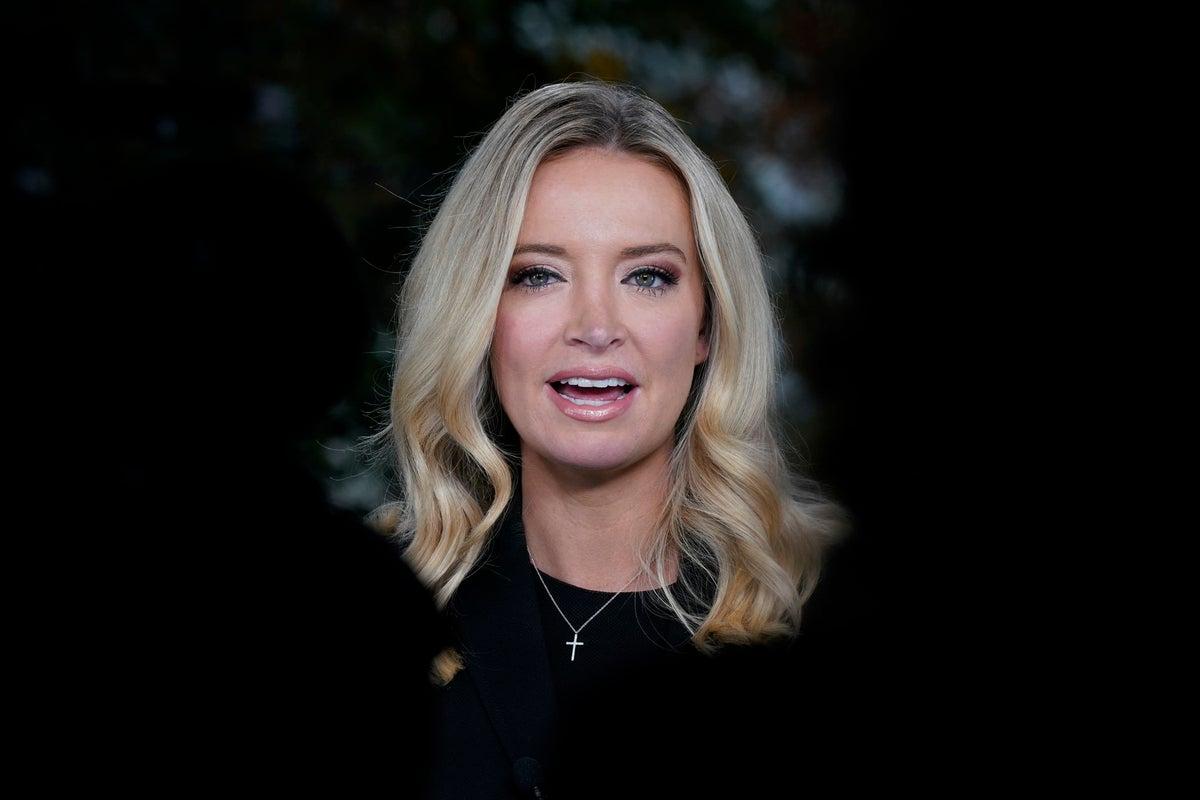 White House Press Secretary Kayleigh McEnany tests