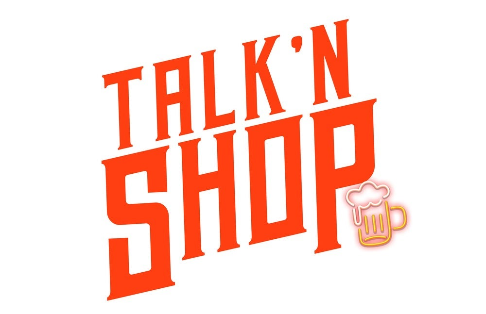 Logo of the 'Talk 'N'Shop' podcast, hosted by pro-wrestling veteransKarl Anderson,Doc Gallows and Rocky Romero. Credit: Impact Wrestling via Entrepreneur