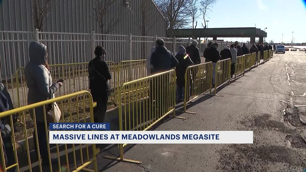 Improvements implemented at the Meadowlands COVID-19 vaccination site to cut down waiting times
