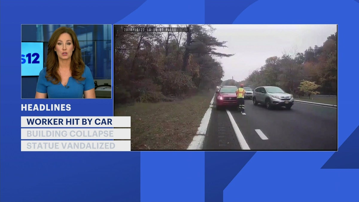 Headlines: DOT worker hit and carried by car, Yonkers building collapse, fatal crash