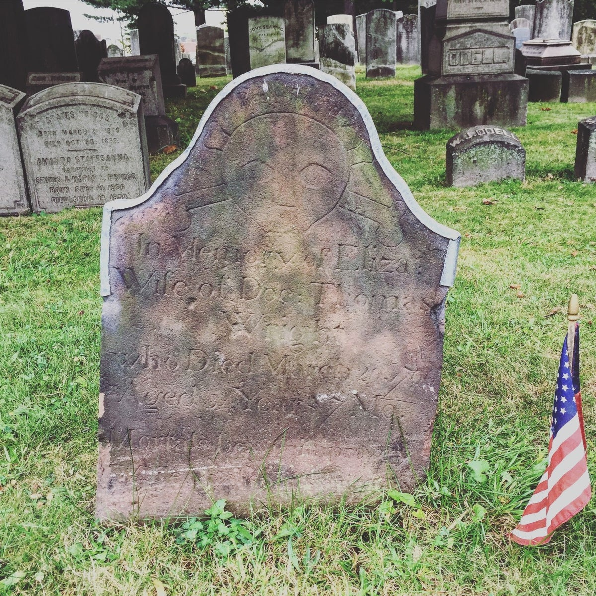 Historic cemetery at St. Paul's (Photo: Brian Heyman, News 12)