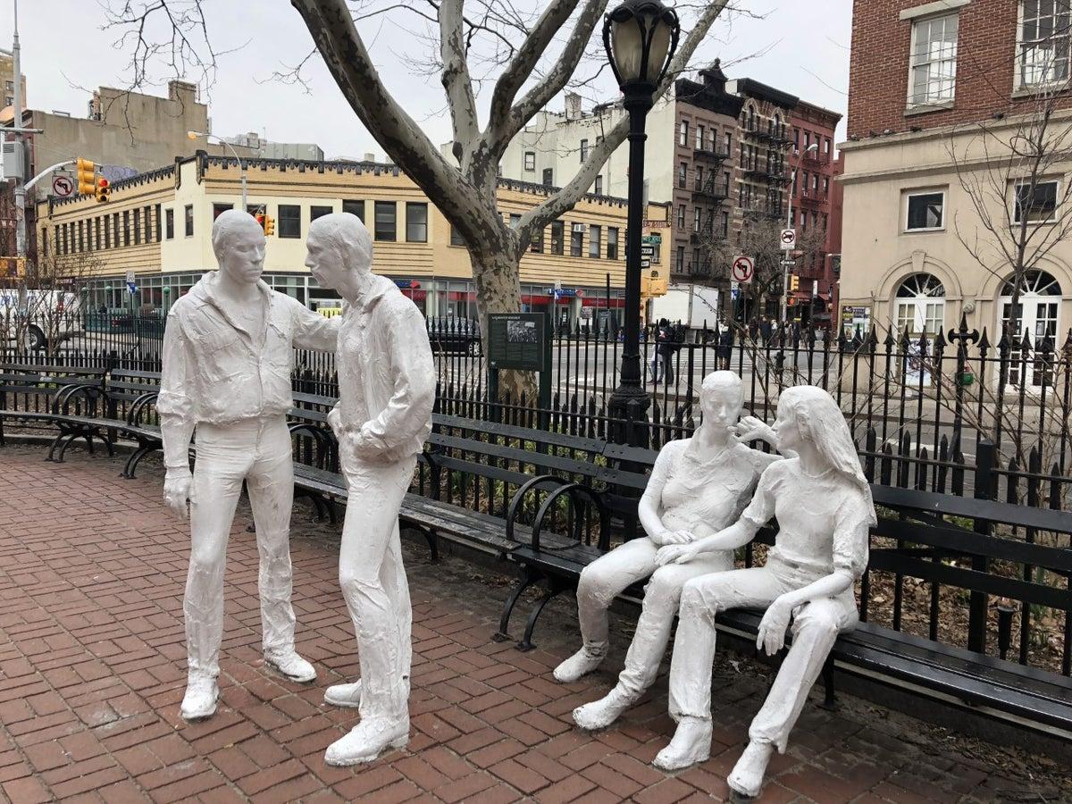 Statues at Stonewall National Monument (Photo credit: Brian Heyman, News 12)