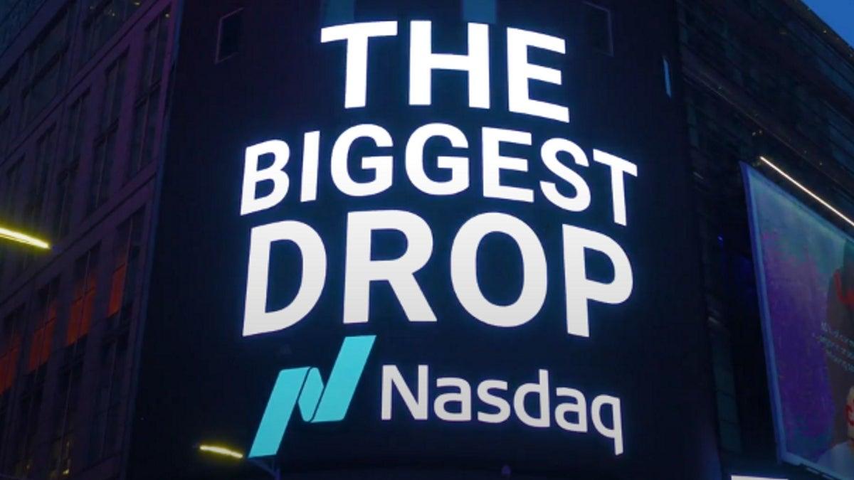 NFT Art Installation Takes Over Nasdaq Billboard in Times Square