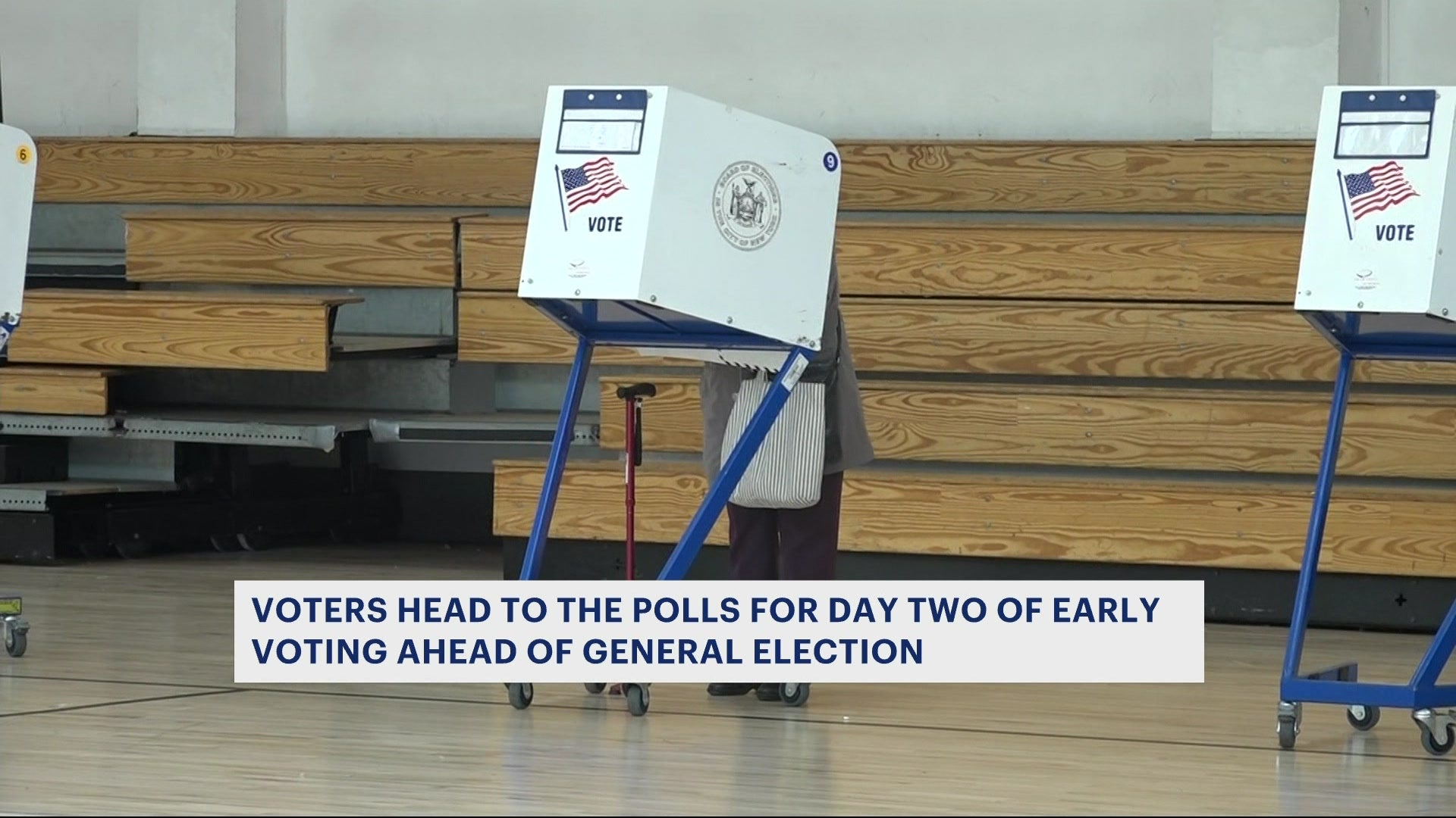 New Yorkers cast their ballots early to beat Election Day crowds