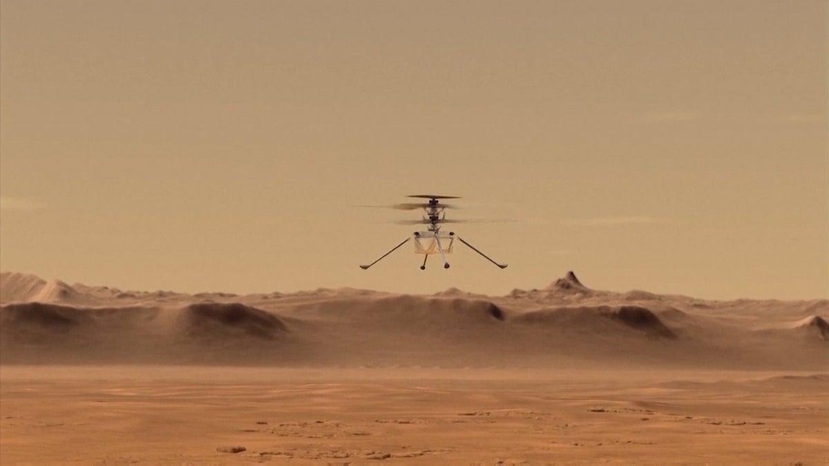 NASA's Mars Helicopter 'Ingenuity' Takes Flight