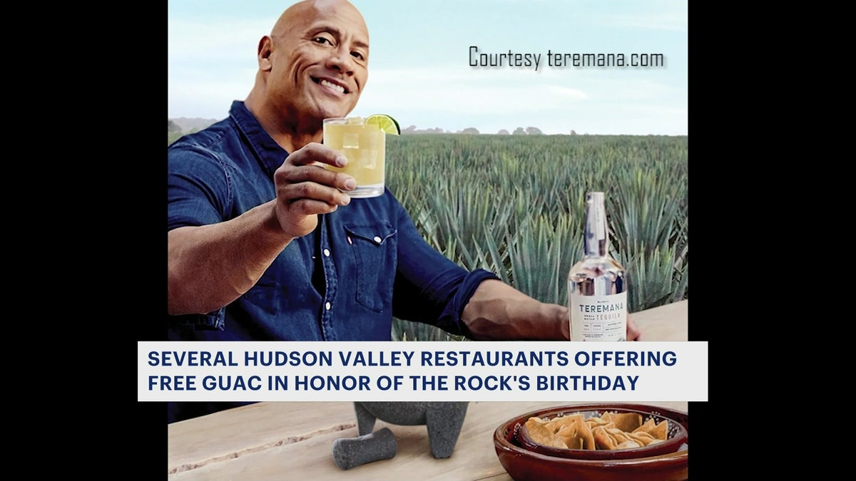 Free guac courtesy of 'The Rock' available at participating restaurants