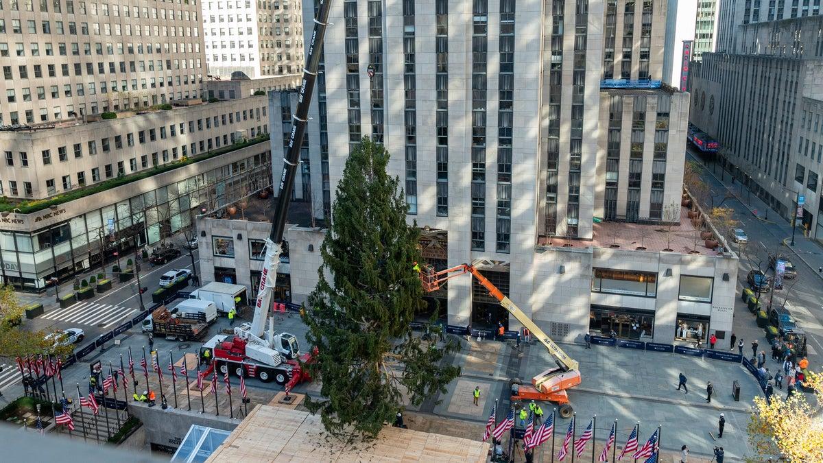 75-foot Christmas tree arrives in Rockefeller Center