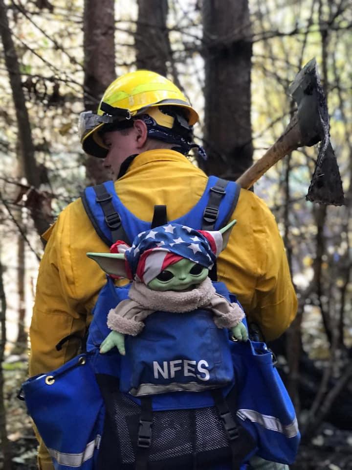 Courtesy: Baby yoda fights fires/Facebook